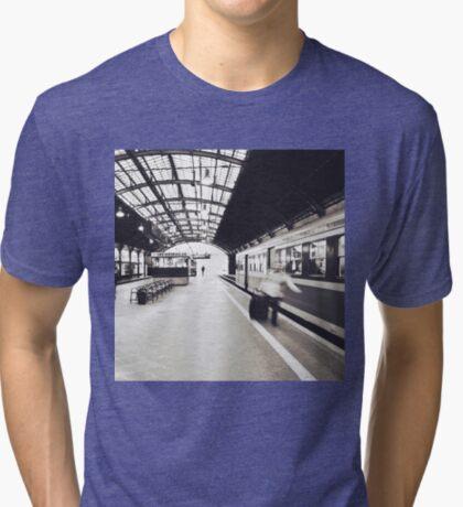 Train Station Tri-blend T-Shirt