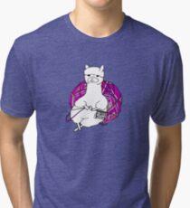 alpaca knitting Tri-blend T-Shirt
