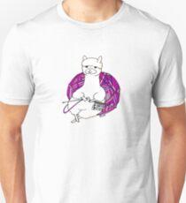 alpaca knitting Slim Fit T-Shirt
