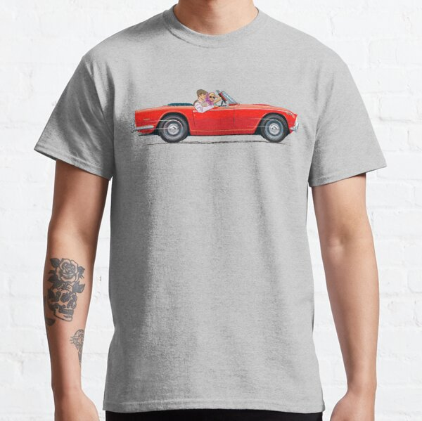 TR5 in Signal Red in right hand drive – with standard wheels Classic T-Shirt