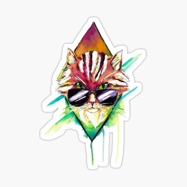 Hell-ectro kitty Sticker