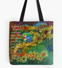 The Gardener with Text Tote Bag