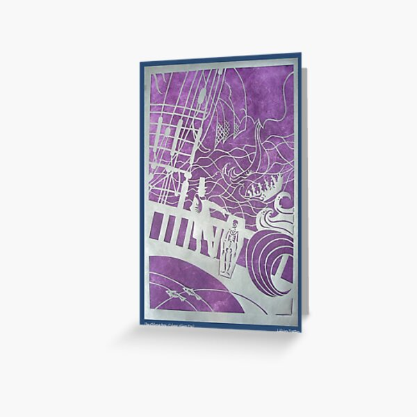 The Oblong Box in Silver Greeting Card