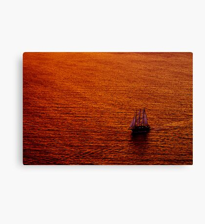 On Golden Water Canvas Print
