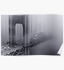 Foggy Golden Gate Bridge Poster