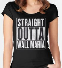 Straight Outta Wall Maria Women's Fitted Scoop T-Shirt