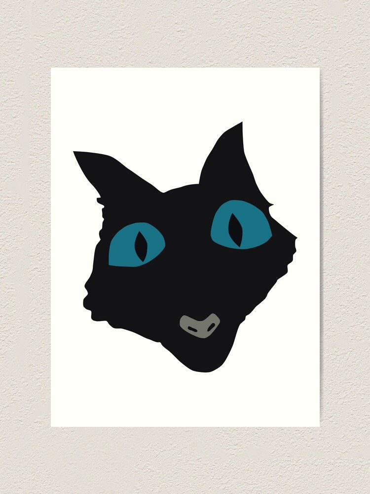 Coraline Cat Vector Art Art Print By Ordainedegg Redbubble