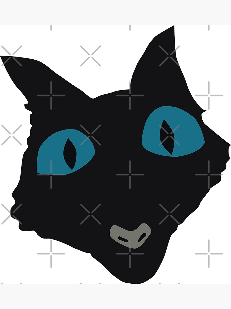 Coraline Cat Vector Art Greeting Card By Ordainedegg Redbubble