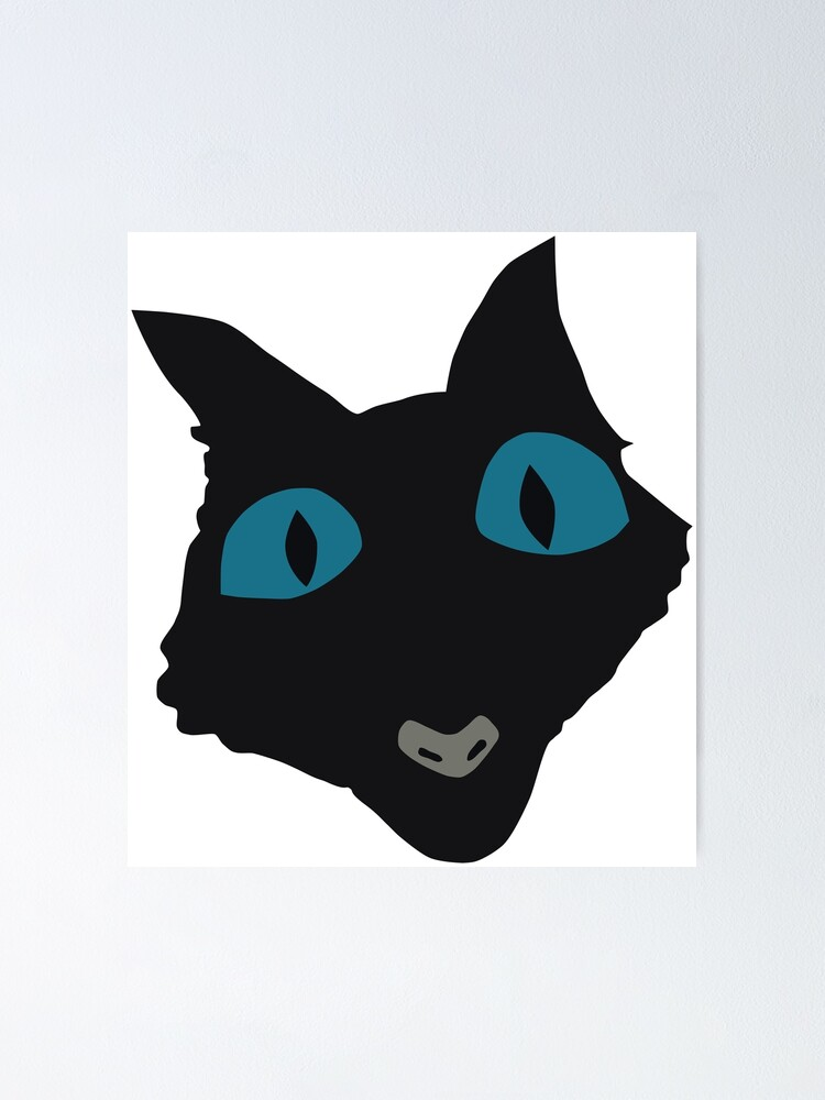 Coraline Cat Vector Art Poster By Ordainedegg Redbubble