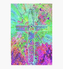 CELTIC CROSS    Vibrant colours with a soul Photographic Print