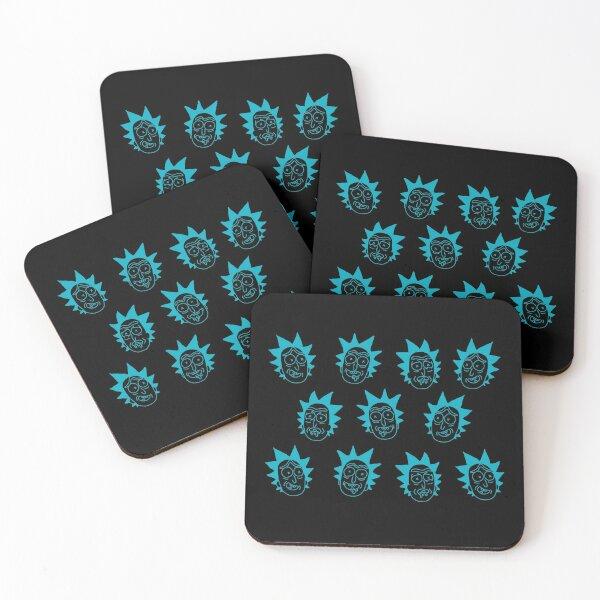 50 shades of rick pattern  Coasters (Set of 4)