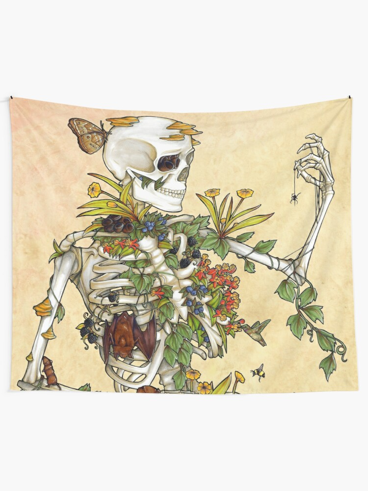 Alternate view of Bones and Botany Tapestry