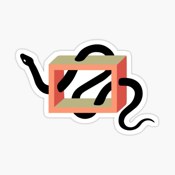 Snake in the Box Sticker