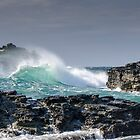 Stormy Seas at Godrevy by maryloufletcher