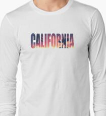 Vintage Filtered California Postcard Long Sleeve T-Shirt