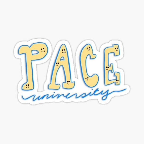 Pace University Smiley Faces Sticker
