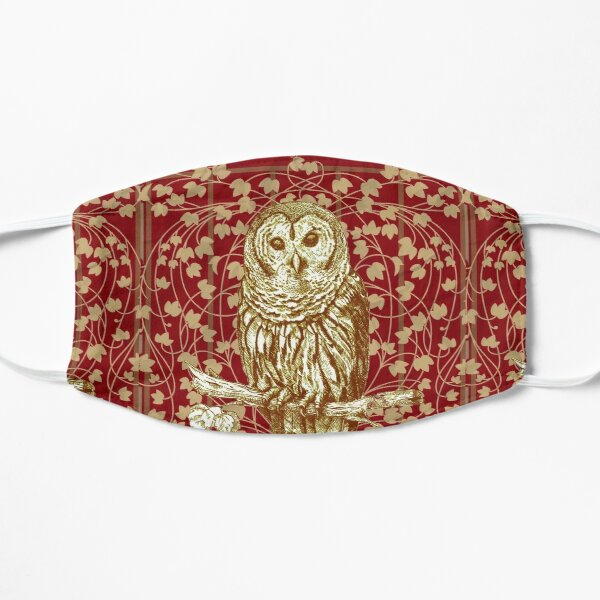 Art Nouveau Owl in Red Mask