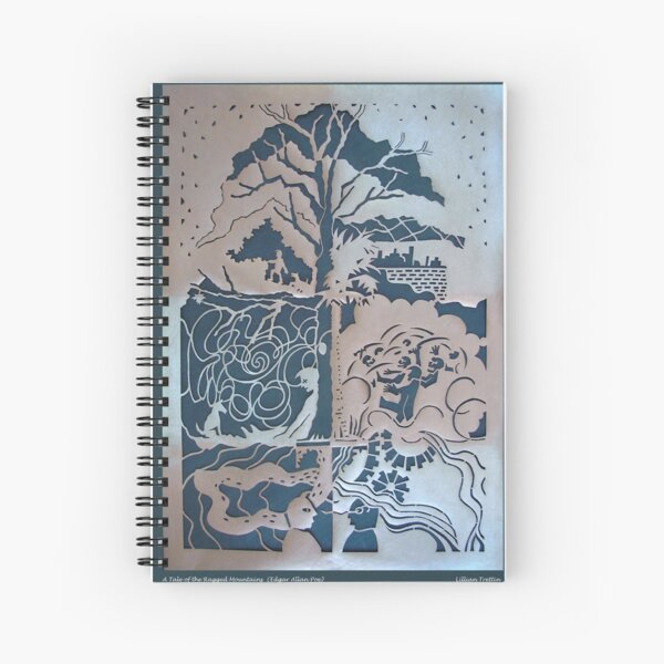 A Tale of the Ragged Mountains in Copper Spiral Notebook