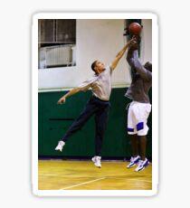 Obama récupére le ballon. Sticker