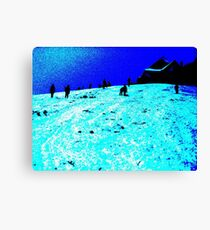 The Slope in Negative Canvas Print