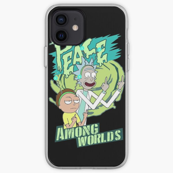 Peace between worlds   Rick and Morty   Peace among worlds iPhone Soft Case