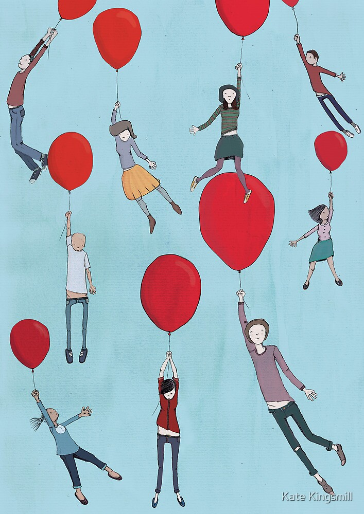 Up, up and away by Kate Kingsmill