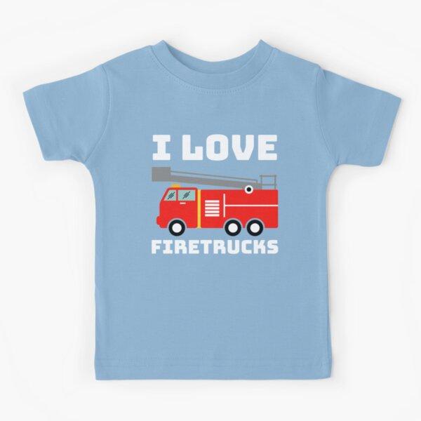 I Love Fire Trucks Kids T-Shirt