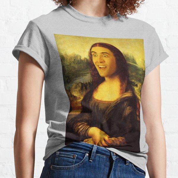 Mona Cage - Nicolas Cage, Mona Lisa, Art, Funny Classic T-Shirt