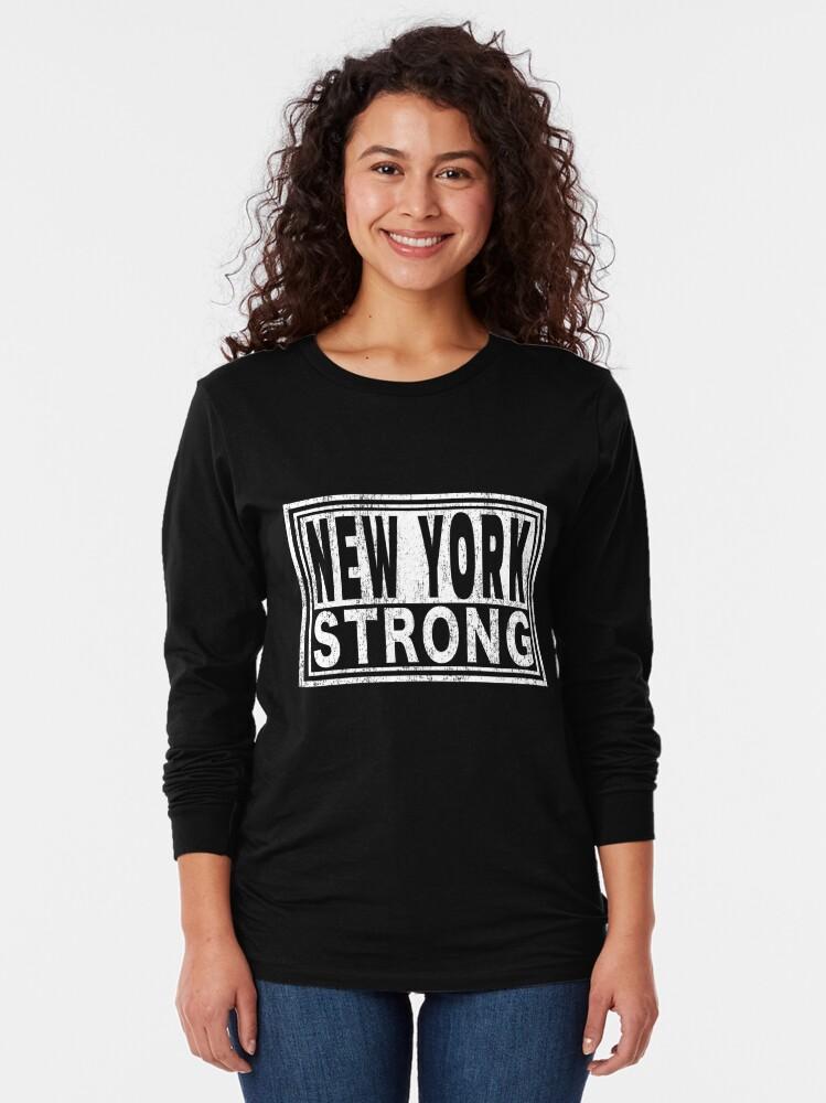 Alternate view of New York Strong   Midtown Manhattan WTC. Long Sleeve T-Shirt