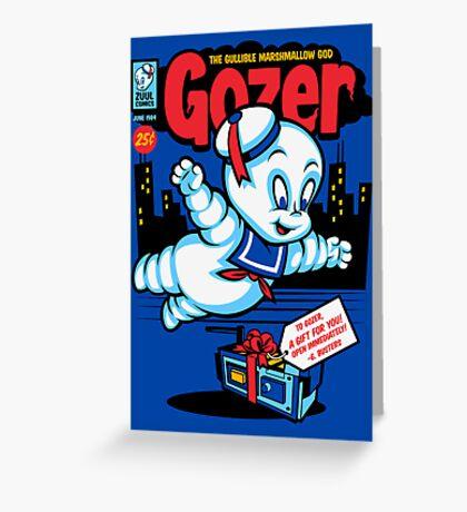 Gozer the Gullible God Greeting Card