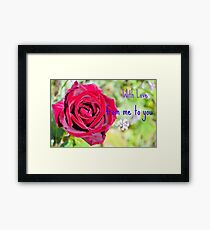 Happy Anniversary Monnie And Jack Framed Print
