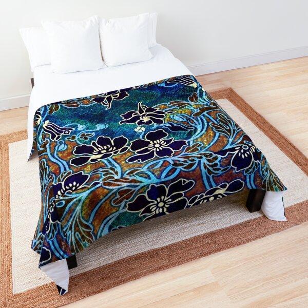 Peacock Floral, Part II Comforter
