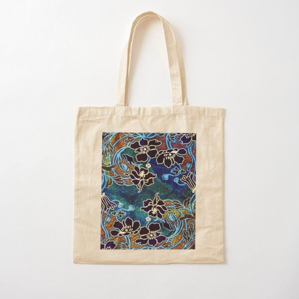 Peacock Floral, Part II Cotton Tote Bag