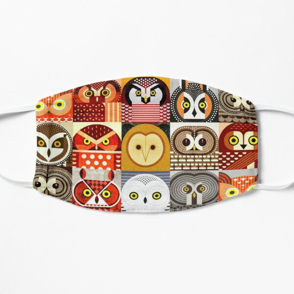 North American Owls Flat Mask
