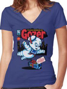 Gozer the Gullible God Women's Fitted V-Neck T-Shirt