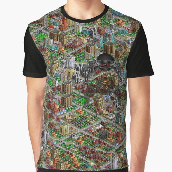 SimCity 2000 No logo Sim City Zoom - HD (High Contrast) Graphic T-Shirt