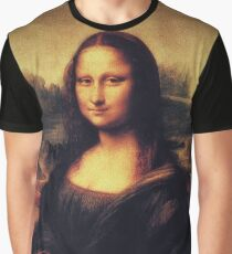 Mona Lisa! SWAG! PEACE! YOLO! Parody Graphic T-Shirt