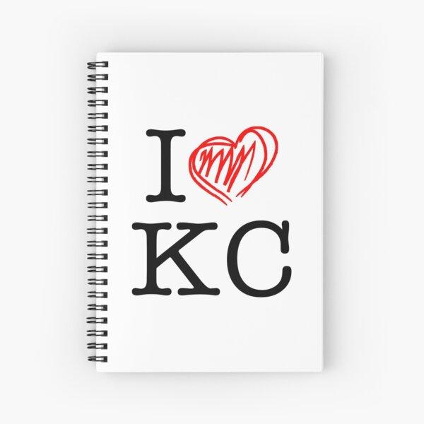 I HEART KC (black text) Spiral Notebook