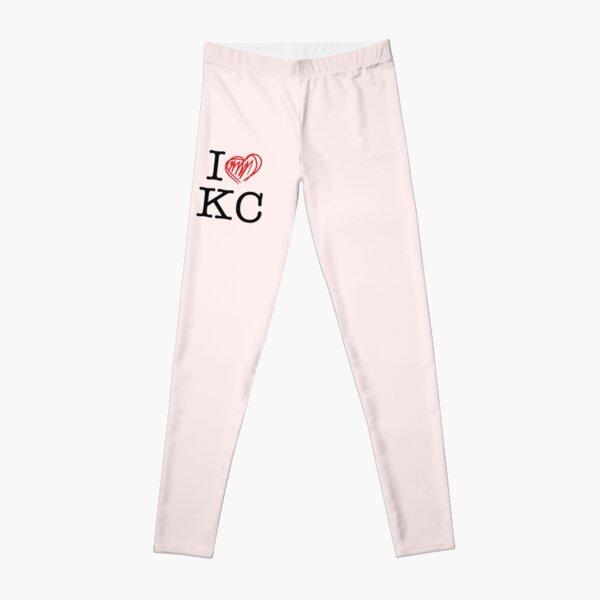 I HEART KC (black text) Leggings