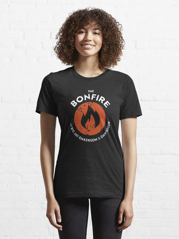 Alternate view of  The Bonfire Podcast Essential T-Shirt