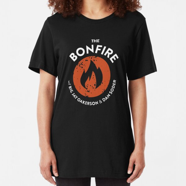 The Bonfire Official Podcast logo Slim Fit T-Shirt
