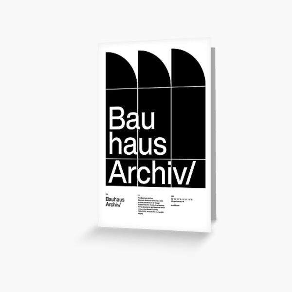 Bauhaus Archiv Greeting Card