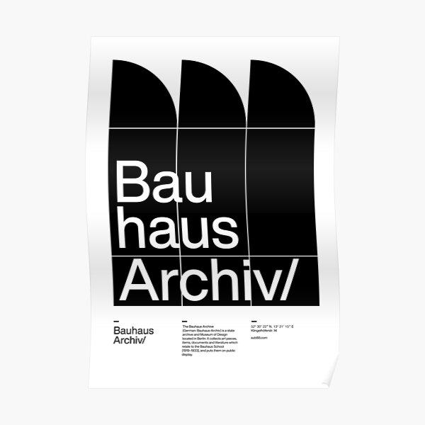Bauhaus Archiv Poster