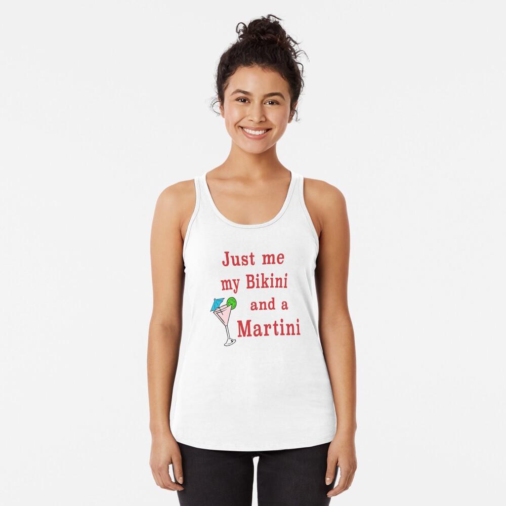 Bikini Martini beachwear swimsuit cosmopolitan. Racerback Tank Top