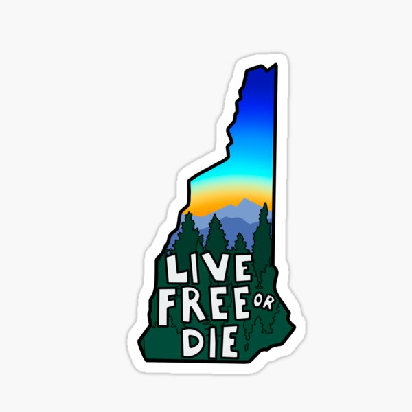 NH Live Free or Die Sticker