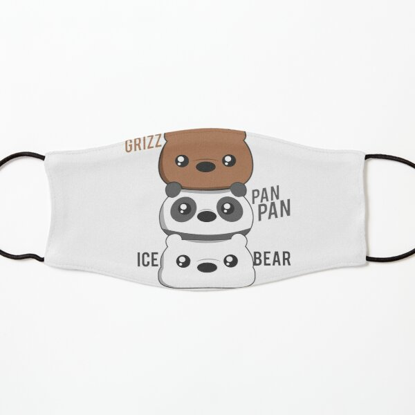 Osos Escandalosos Chibi | Cute Pardo, Panda y Polar | Cartoon Network Licensed FanArt Mascarilla para niños