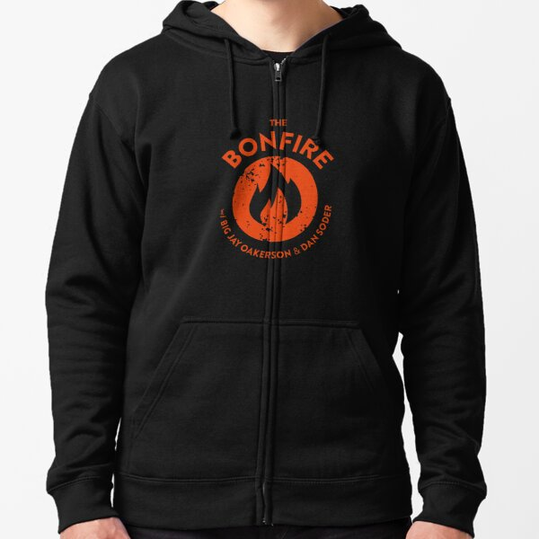 The Bonfire Official Podcast logo Zipped Hoodie