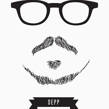 Beards with Glasses – Johnny Depp by zeddhead