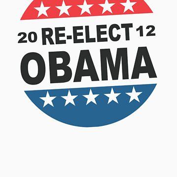 Re-Elect Obama Button Shirt by ObamaShirt