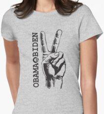 Obama Biden 2012 Peace Women'sShirt Womens Fitted T-Shirt